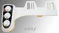 Bidet4me Hot/Cold Water Dual Nozzles Non-Electric Toilet Seat, White Free Ship