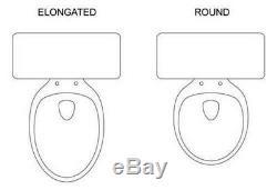 Bidet ELONGATED Toilet Bidet Seat Non Electric Sleek Self Cleaning Nozzle NEW