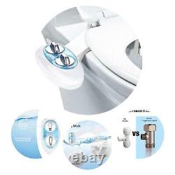 Bidet Fresh Water Spray Kit Toilet Seat Attachment Clear Wash Rear Non Electric