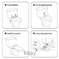 Bidet Toilet Seat, Elongated Toilet Seat Cover with separated Self-Cleaning Knob