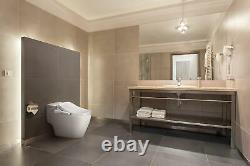 BioBidet Slim One Slim Elongated Bidet Toilet Seat White