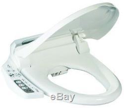 Bio Bidet BB-600 Ultimate Bidet Toilet Seat w Side Control Panel Elongated White