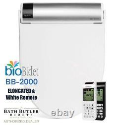 Bio Bidet BLISS BB-2000, Elongated, White, Remote Control, New 3-Yr Warranty