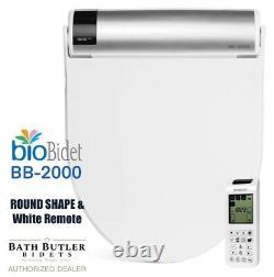 Bio Bidet BLISS BB-2000, ROUND, Remote, White with 3-Yr Mfr Warranty