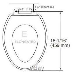 Bio Bidet Luxury Class Slim Two Bidet Toilet Seat Elongated White