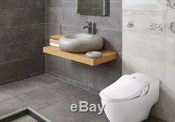 Bio Bidet Slim 2 Two Toilet Seat Bidet with Elongated Bowl In White Biobidet