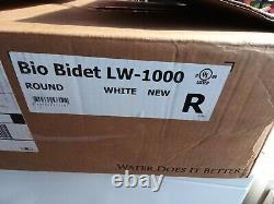 Bio Bidet White Round Slow-Close Heated Bidet Seat. LW-1000