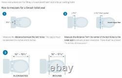 Brondell Bidet Seat S300-EW Swash Bidet Seat Elongated, White Open Box