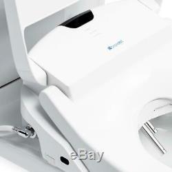 Brondell Swash 1400 Luxury Bidet Round Toilet Seat White w Dual Nozzles S1400-RW