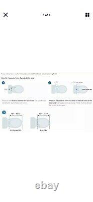 Brondell Swash 1400 Luxury Electric Bidet Toilet Seat Elongated White + Remote