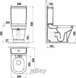 Creavit Antik Back to wall Combined Bidet WC close couple toilet pan soft seat