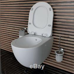 Creavit FE322 Wall Hung Mounted Combined Bidet Toilet Pan wc soft seat Rimless