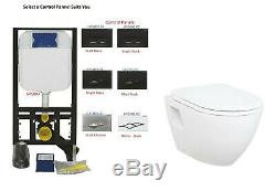 Creavit Wall Hung Mounted Combined Bidet Toilet Pan wc Concealed Cistern seat
