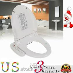 Digital Bidet Seat Toilet Waterproof Dryer Heated Anti-bacterial Seat Safety USA