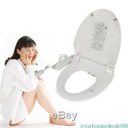 Digital Bidet Seat Toilet Waterproof Dryer Heated Anti-bacterial Self-cleaning