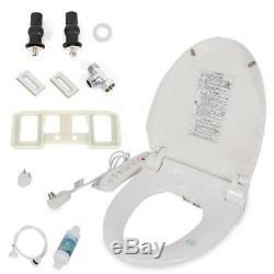 Digital Compact Bidet Electric Toilet Seat WC Dryer Warm Anti-bacterial Seat US