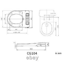 Dusch WC Sitz Bidet + Toilettendeckel Klodeckel + Absenkautomatik BisBro CG104