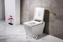 Dyconn Faucet DF-818ZA Elongated Tankless Toilet with Built in Auto Bidet Seat