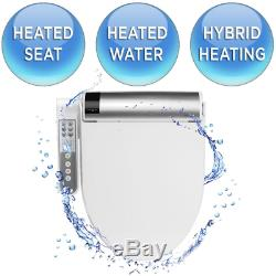 Electric Bidet Sprayer Kit Elongated Heated Toilet Seat System Warm Water Stream