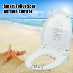 Electric Smart Bidet Seat Elongated Toilets With Wireless Remote Control 1300W