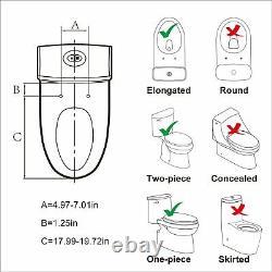 Electric Smart Bidet Toilet Seat Adjustable Dryer Remote Control