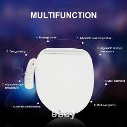Electric Smart Flush Bidet Toilet Seat Washer Sprayer Self-cleaning Warm Air