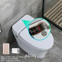 Elongated One Piece Electronic Toilet With Advance Bidet And Soft Closing Seat