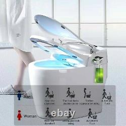 Elongated One Piece Smart Toilet With Advance Bidet And Soft Closing Seat New