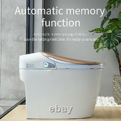 Elongated One Piece Smart Toilet With Advance Bidet And Soft Closing Seat White