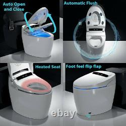 Elongated One Piece Smart Toilet with Advance Bidet And Soft Closing Seat Siphon