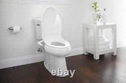 Elongated Toilet Manual Bidet Seat Adjustable Spray Wand Position Water Pressure