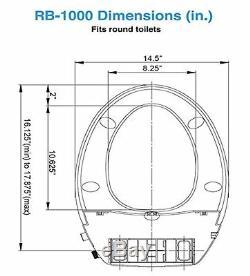 GenieBidet ROUND Toilet Bidet Seat Manufacturer Refurbished Same Warranty
