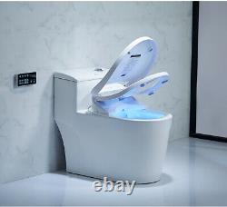 Intelligent Toilet Seat Electric Bidet Cover Smart Heated Toilet Seat Led US