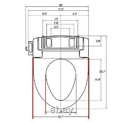 Intelliseat Bidet Toilet Seat Adjustable Self Cleaning Nozzle Electronic