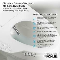 KOHLER Electric Bidet Seat Plastic Heated Adjustable Elongated Toilet Biscuit