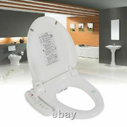 Luxury Electric Bidet Warm Toilet Seat for Elongated Toilets -Double Nozzles USA