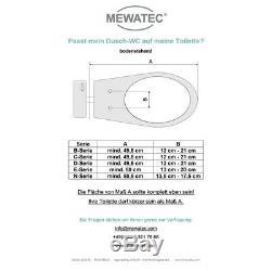 MEWATEC Marken Dusch-WC Aufsatz B100 Bidet Toilettensitz