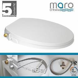 Maro D'Italia FP108 Dusch-WC Aufsatz (Rund/Knapp) Stromlos Messing gewinde