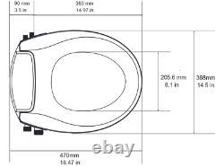 Maro D'Italia FP208 Manual Bidet Seat Warm water dual nozzle