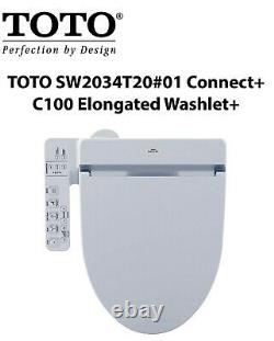 NEW TOTO SW2034T20#01 Washlet+ C100 Bidet Seat Soft Close-Heated Seat-PREMIST+