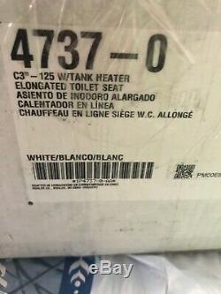 New KOHLER K-4737-0 C3 125 Elongated Warm Water Bidet Toilet Seat, White