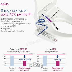 New NOVITA BD-N530A Smart Digital Bidet Seat Toilet Power Saving Dryer Heating