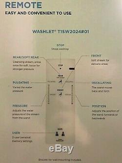 New Toto Washlet Bidet Elongated Toilet Seat withRemote T1SW2024#01