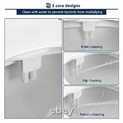 Non Electric Bidet Fresh Water Spray Kit Toilet Seat Attachment with Dual Nozzle