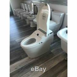 ProStock PSBTWE1000 White Elongated Electronic Bidet Seat with Integrated Toilet