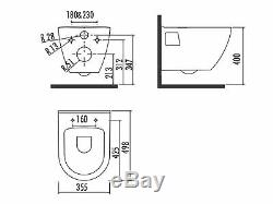 Short Projection Wall Hung All In One Combined Bidet Toilet With Seat