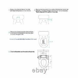 SmartBidet Electric Bidet Seat SB 1000 SB 1000WE Smart Elongated Remote Control