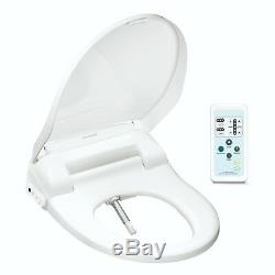 SmartBidet SB-100R Electric Bidet Toilet Seat for Elongated Toilets with Remote