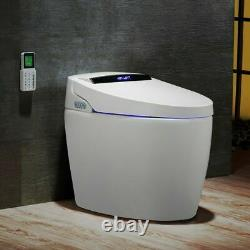 Smart Automatic One-Piece 1.27 GPF Floor Mount Elongated Toilet Bidet with Seat