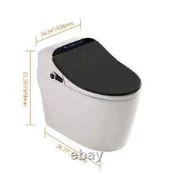 Smart One-Piece 1.27 GPF Floor Mounted Elongated Toilet Bidet with Seat in Black